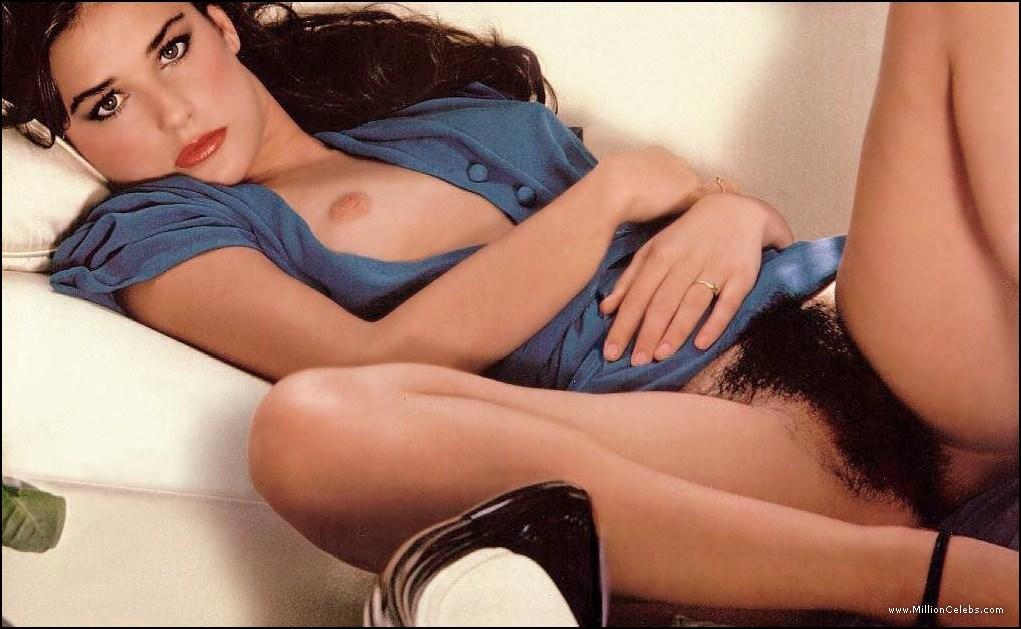 Photos Demi Moore nue et jeune, totalement nue avec